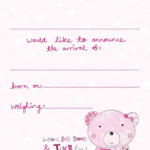 Birth announcement packs - 8 postcards with envelopes £3.99