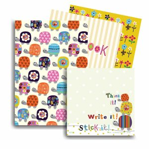 A6 Notebook Sets with matching Sticky Pad