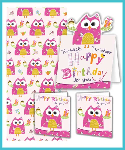 Gift-wrap packs with matching Birthday card - £4.95